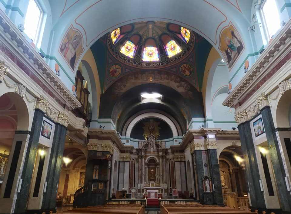 Inside the Roman Catholic Church of St Aloysius