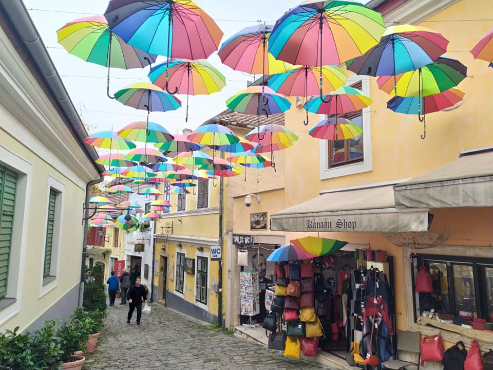 Colourful streets of Szentendre