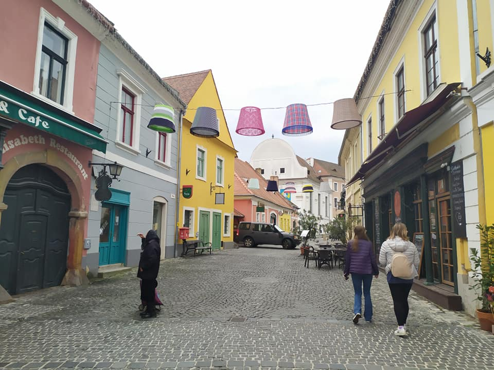 Wandering the cobbled streets of Szentendre